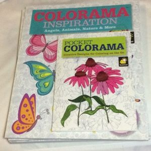 Other - Colorama adult coloring books with pencils